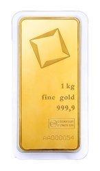 Sztaba złota LBMA 1000 g minted