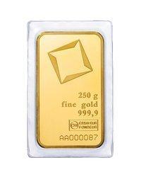 Sztaba złota LBMA 250 g minted